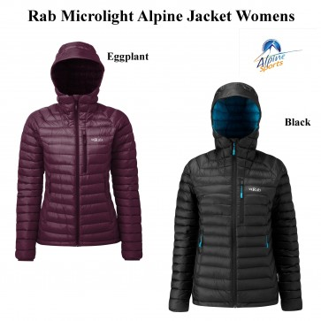Rab Microlight Alpine Down Hooded Jacket Womens