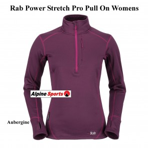 Rab Powerstretch Womens Top - lightweight, fleece pull-over designed for layering & every-day Mountain Wear
