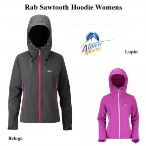 Rab Sawtooth Softshell Hoodie Womens